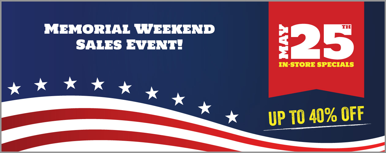 Memorial Weekend Sales Event